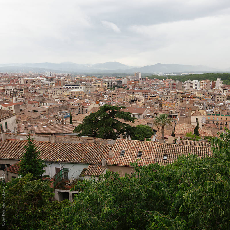 View of the city Gerona, Catalonia, Spain by Robert Kohlhuber for Stocksy United
