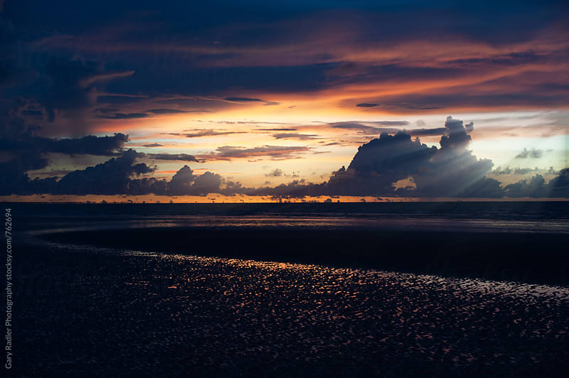Sunset over Beach near Darwin by Gary Radler Photography for Stocksy United