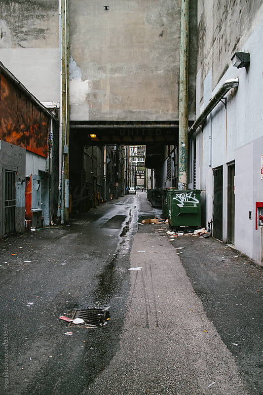 Desolated alley in Vancouver Canada. by kkgas for Stocksy United