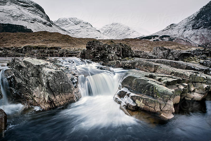 A flowing river in the Highlands of Scotland, UK by James Ross for Stocksy United