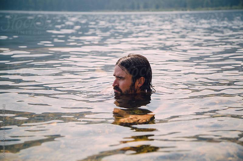 Male swimmer by Kristopher Orr for Stocksy United