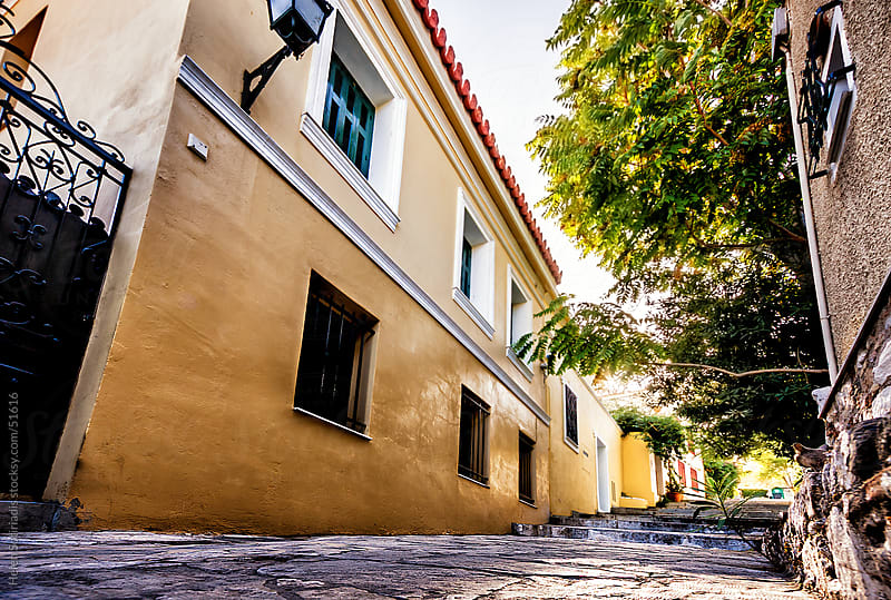 A street in old Athens by Helen Sotiriadis for Stocksy United