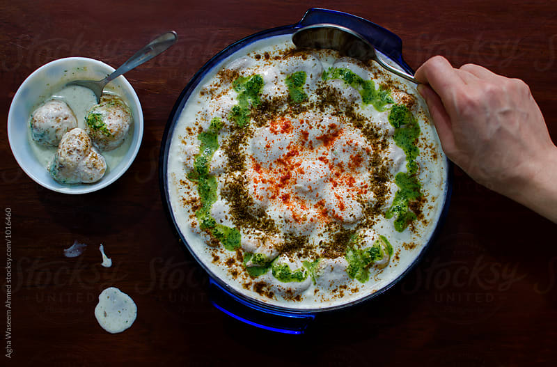 Dahi Bhalla a sub continental Delicacy by Agha Waseem Ahmed for Stocksy United