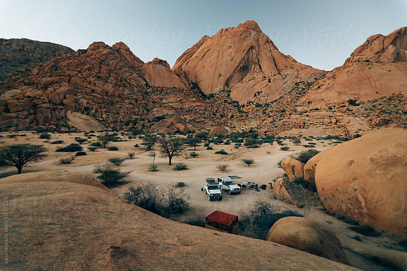 Campsite in a scenic mountainous desert by Micky Wiswedel for Stocksy United