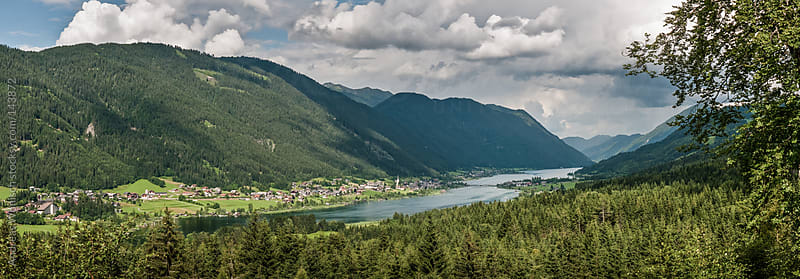 Alp Panorama of the Weissensee in Austria by Andreas Wonisch for Stocksy United