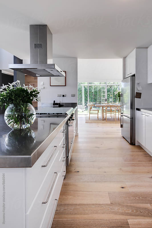 Contemporary styled kitchen by Rowena Naylor for Stocksy United