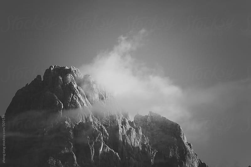 mountain sunrise by zheng long for Stocksy United