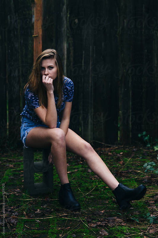 Young female model outdoors in cool weather by Jesse Morrow for Stocksy United