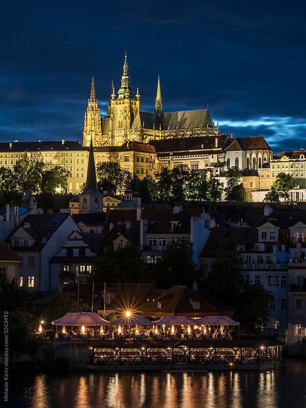 Prague's Castle at blue hour by Melanie Kintz for Stocksy United