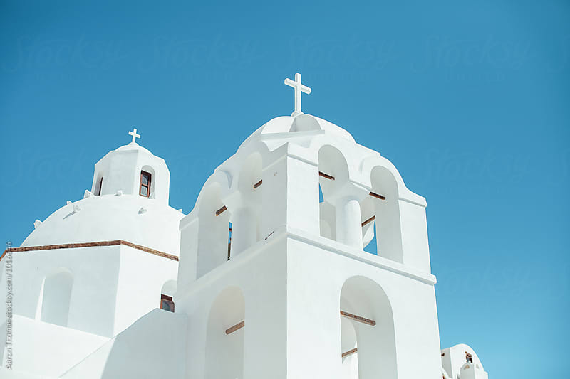 Church in Santorini by Aaron Thomas for Stocksy United