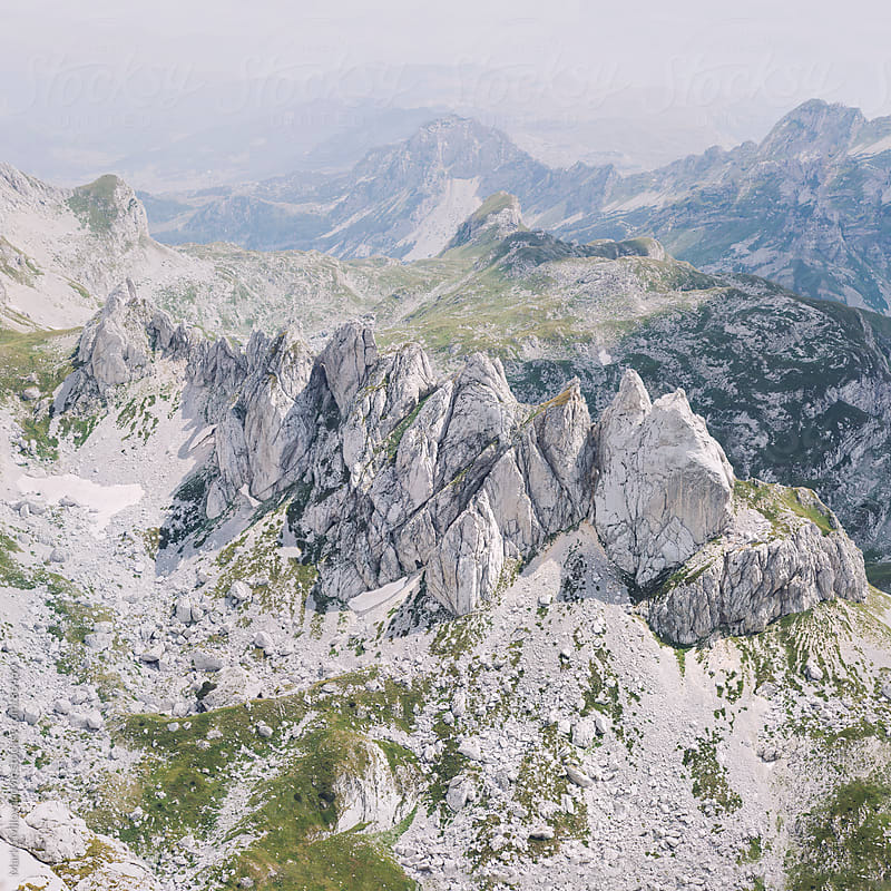 Jagged mountains on Durmitor by Marko Milovanović for Stocksy United