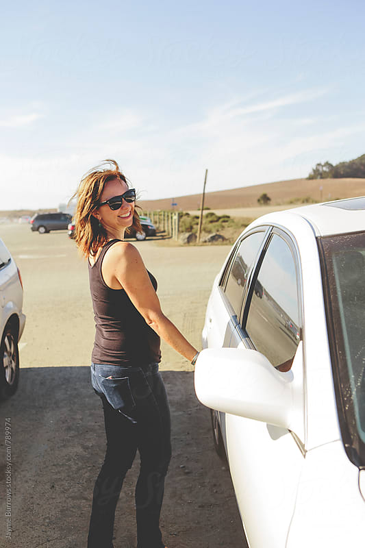 Woman on Road Trip by Jayme Burrows for Stocksy United