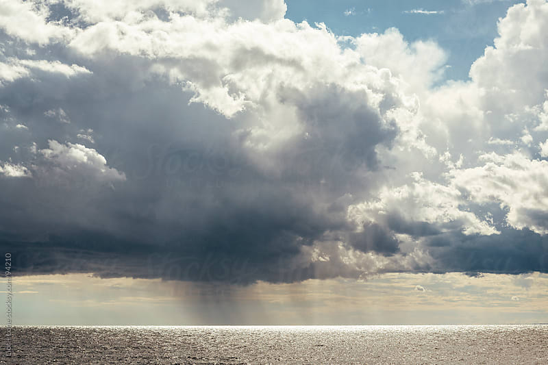 Great storm in the middle of the sea by Lior + Lone for Stocksy United