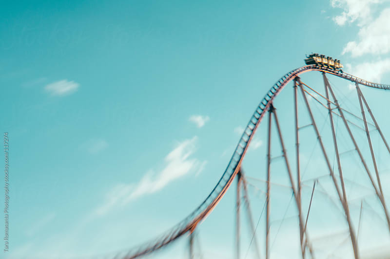 roller coaster at New York New York by Tara Romasanta for Stocksy United