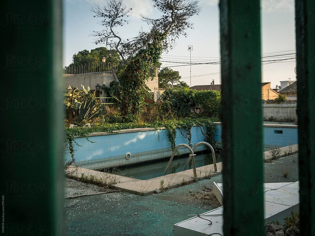 Derelict And Abandoned Empty Swimming Pool By Dv8or Stocksy United