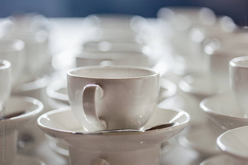Cups and saucers by Helen Sotiriadis for Stocksy United
