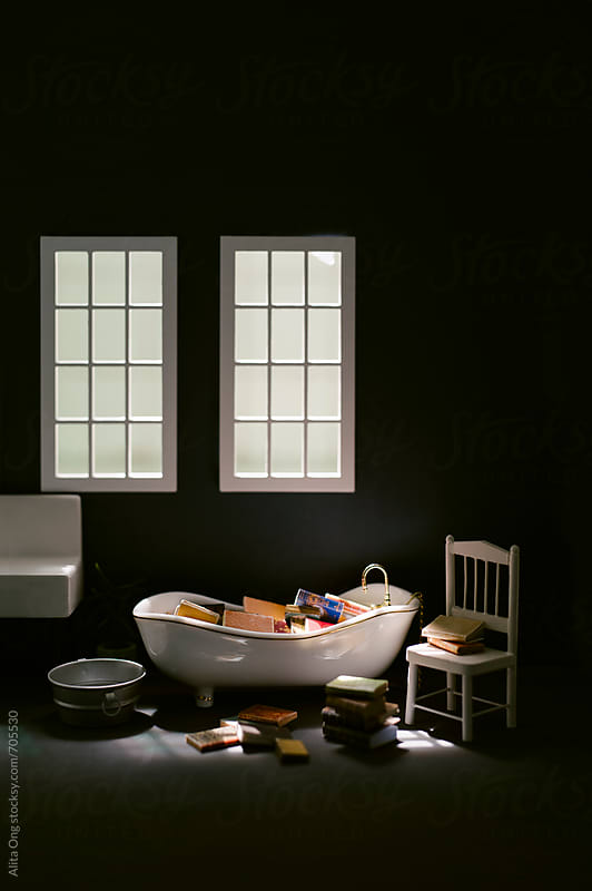 Beautiful atmosphere in a bathroom  by Alita Ong for Stocksy United