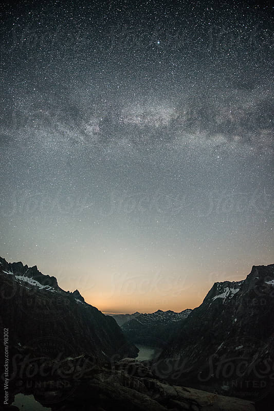 Galaxy from SAC Lauteraar mountain hut by Peter Wey for Stocksy United