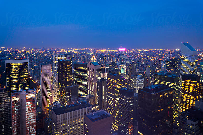 Blue hour in Manhattan, New York by ACALU Studio for Stocksy United