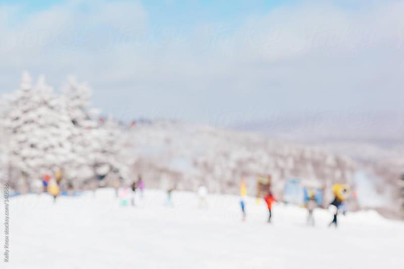 ski slope defocused by Kelly Knox for Stocksy United