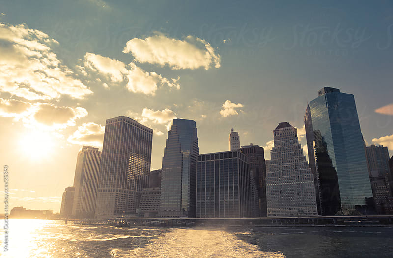 Sunset Skyline - Lower Manhattan by Vivienne Gucwa for Stocksy United