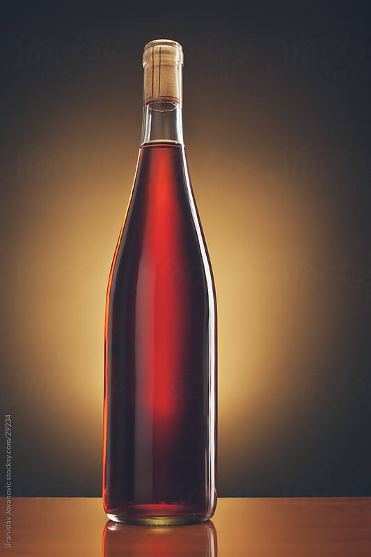 Bottle of red wine by Branislav Jovanović for Stocksy United