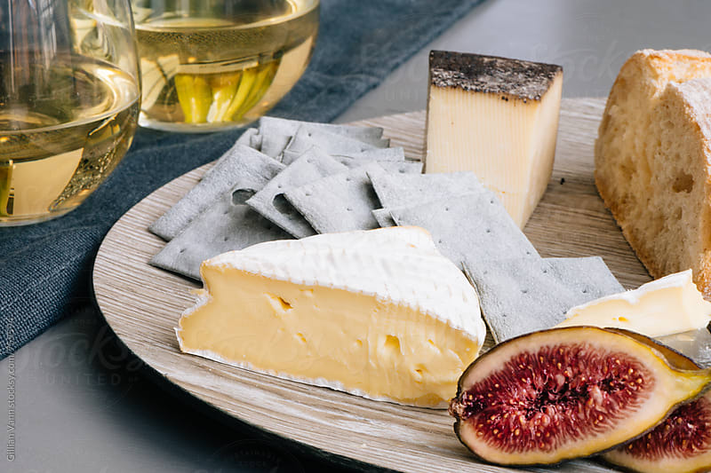 cheese and wine by Gillian Vann for Stocksy United