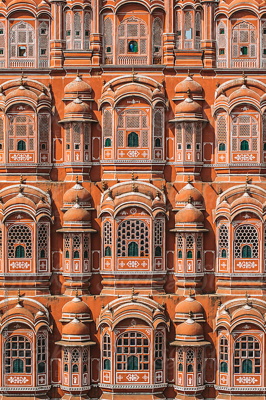 Hawa Mahal, Palace of Winds, Jaipur by Alexander Grabchilev for Stocksy United