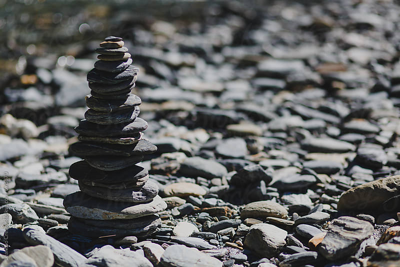 Stacked stones by Leandro Crespi for Stocksy United