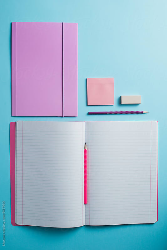 Open Notebook From Above by Mosuno for Stocksy United