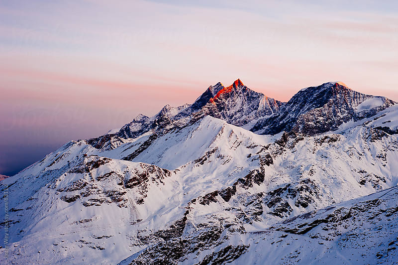 Sunrise from Gornergrat by Peter Wey for Stocksy United