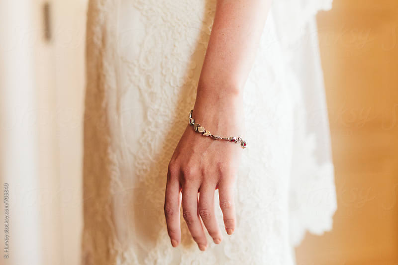 Detail Shot of Bride on her Wedding Day by B. Harvey for Stocksy United
