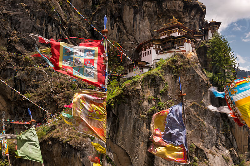 Taktshang Tigers Nest Monastery , Bhutan. by Gabriel Diaz for Stocksy United