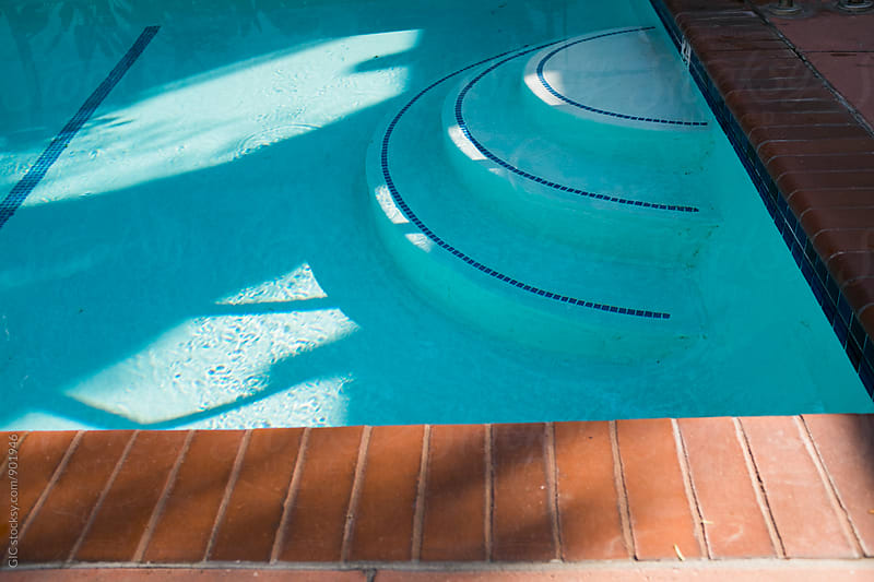 Outdoors swimming pool detail by GIC for Stocksy United
