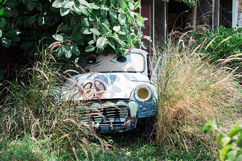 Abandoned Old Car by Mosuno for Stocksy United
