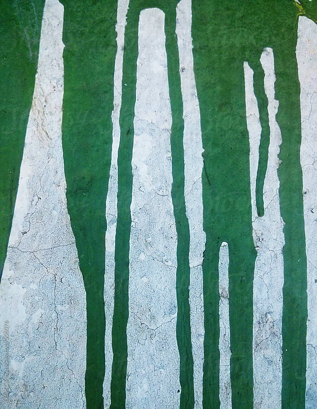 Dried Green Paint Spillage by Eldad Carin for Stocksy United
