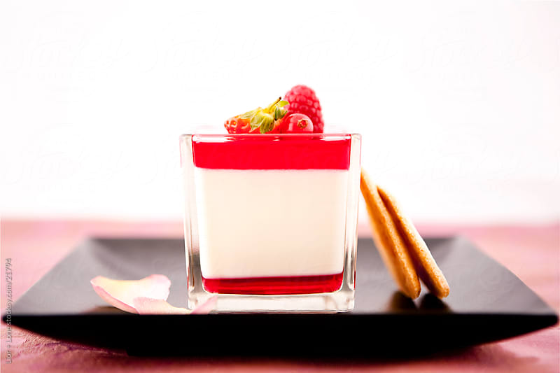Pana cotta with biscuits by Lior + Lone for Stocksy United