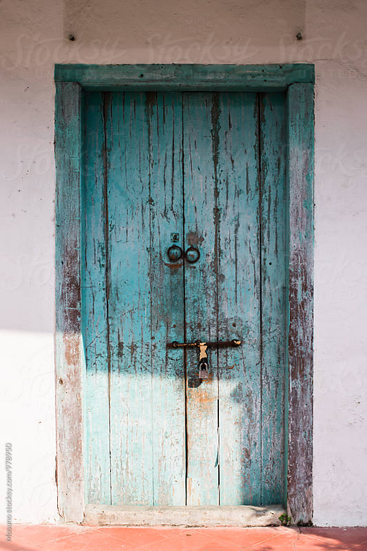 Blue Wooden Door by Mosuno for Stocksy United