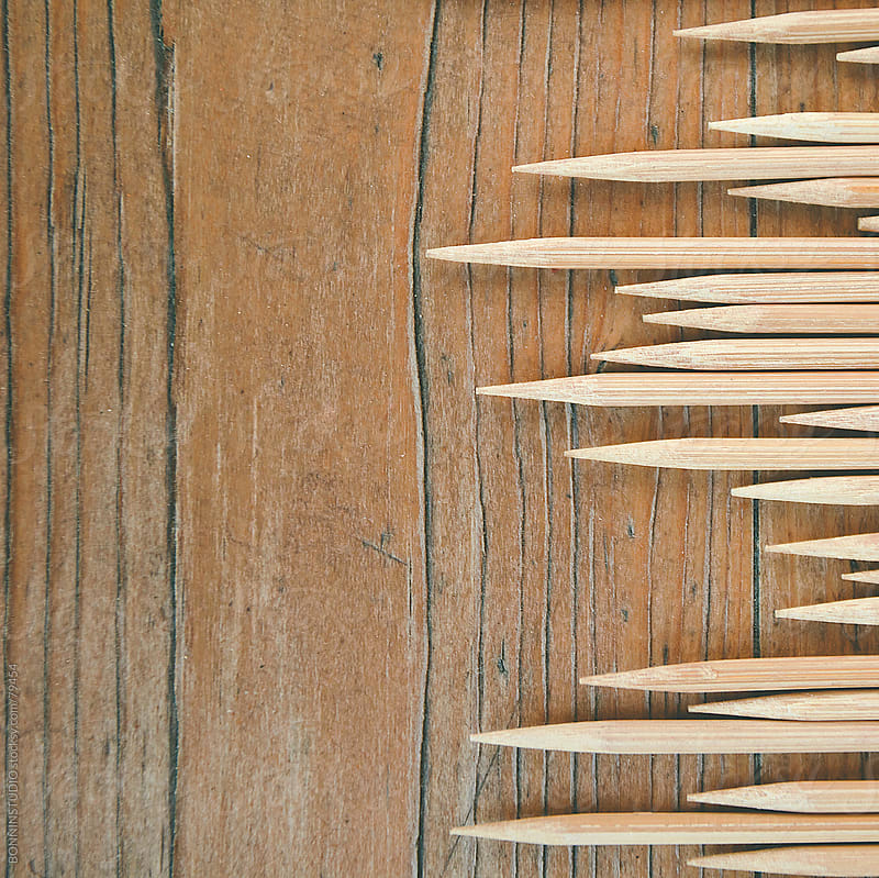 Detail of sticks. Mikado game. by BONNINSTUDIO for Stocksy United