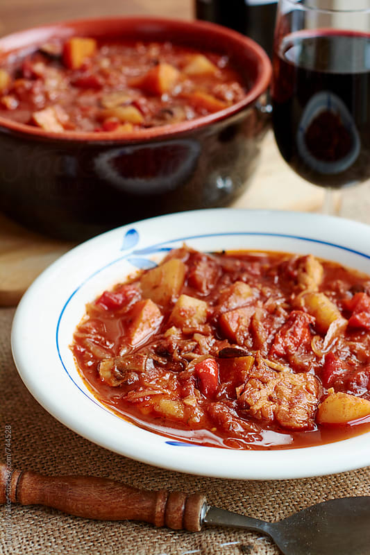 Hungarian Goulash (vegan) by Harald Walker for Stocksy United