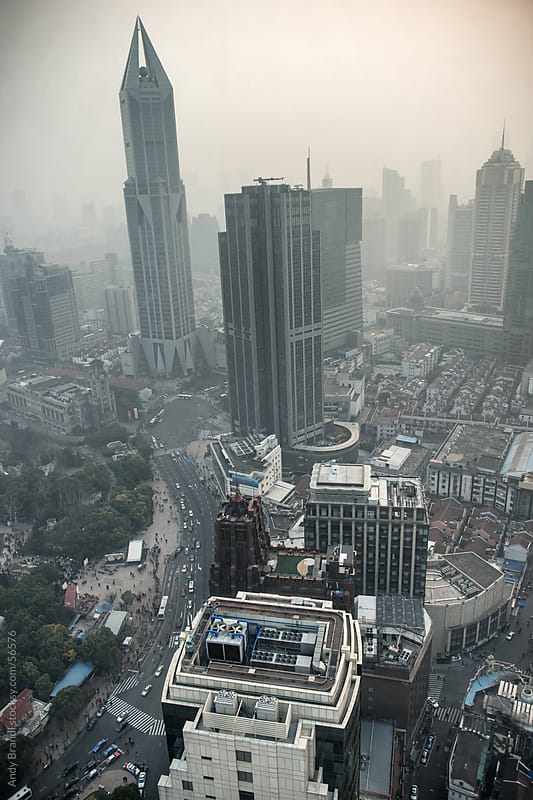 Shanghai - Vertical City View by Andy Brandl for Stocksy United