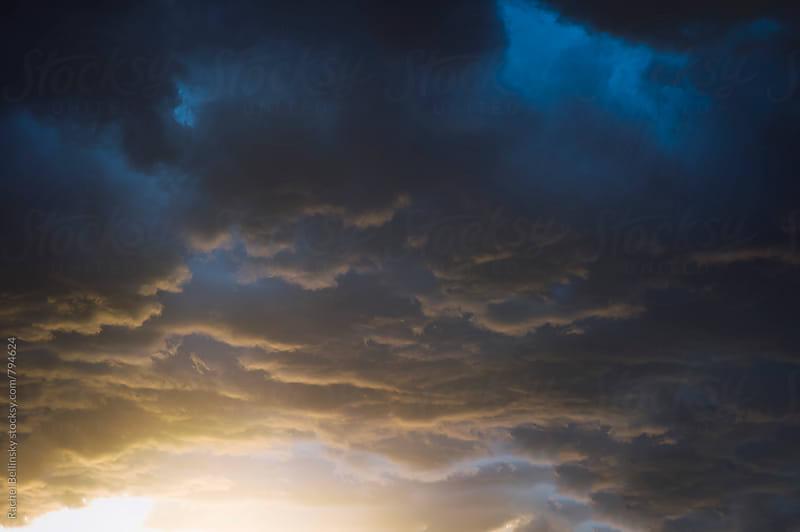 A beautiful desert sunset over Las Vegas by Rachel Bellinsky for Stocksy United