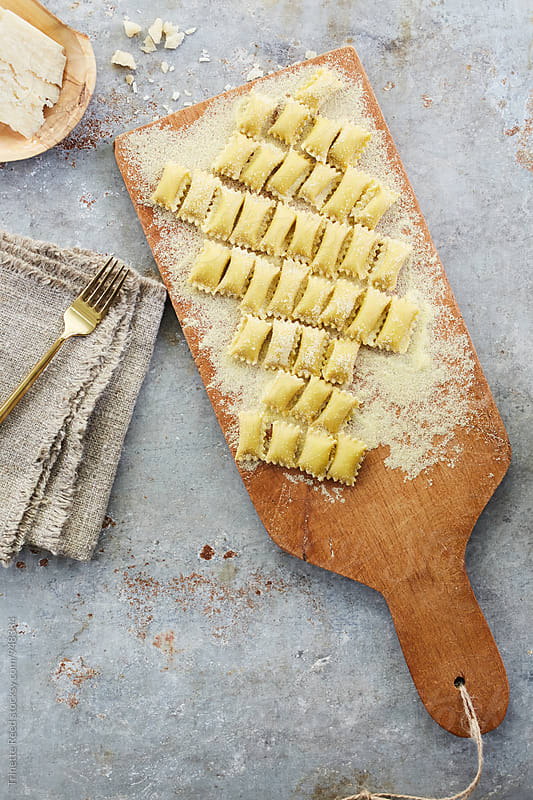 Homemade Agnolotti Pasta by Trinette Reed for Stocksy United