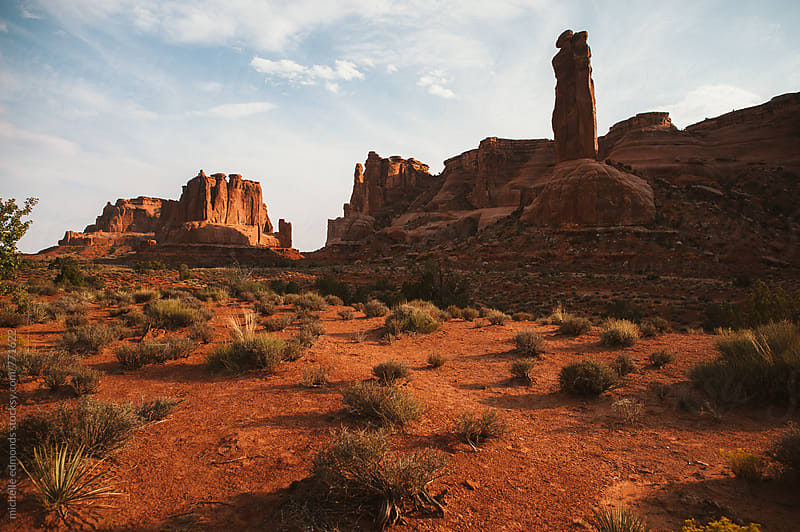 Landscape at Arches National Park by michelle edmonds for Stocksy United