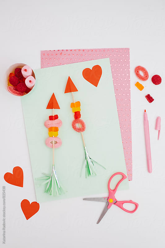 DIY Candy Cupid Arrows by Katarina Radovic for Stocksy United