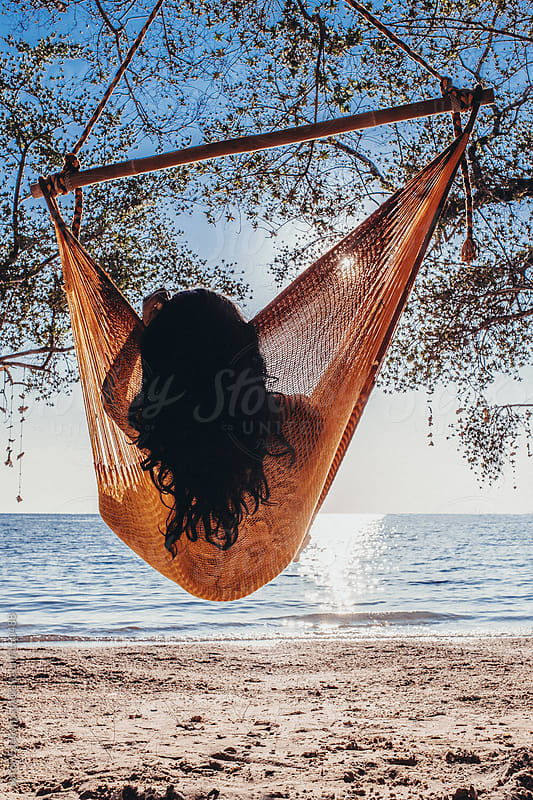 Beautifull asian girl relax in hammock by Soren Egeberg for Stocksy United