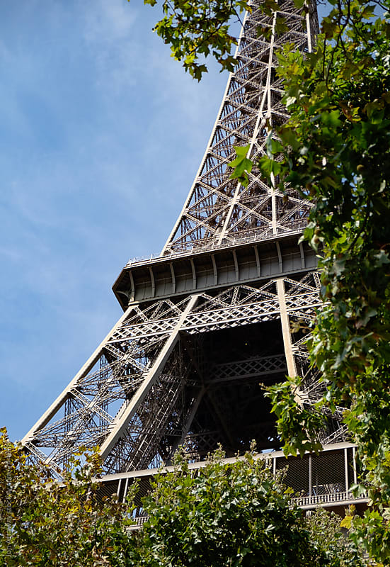 Detail of the Eiffel Tower in Paris by Jon Attaway for Stocksy United