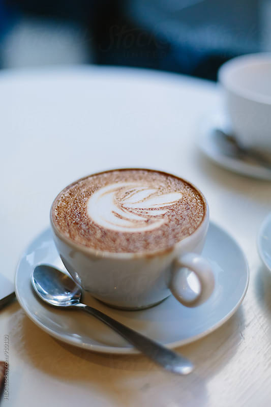 Beautiful Cappuccino on a  Table by HEX . for Stocksy United