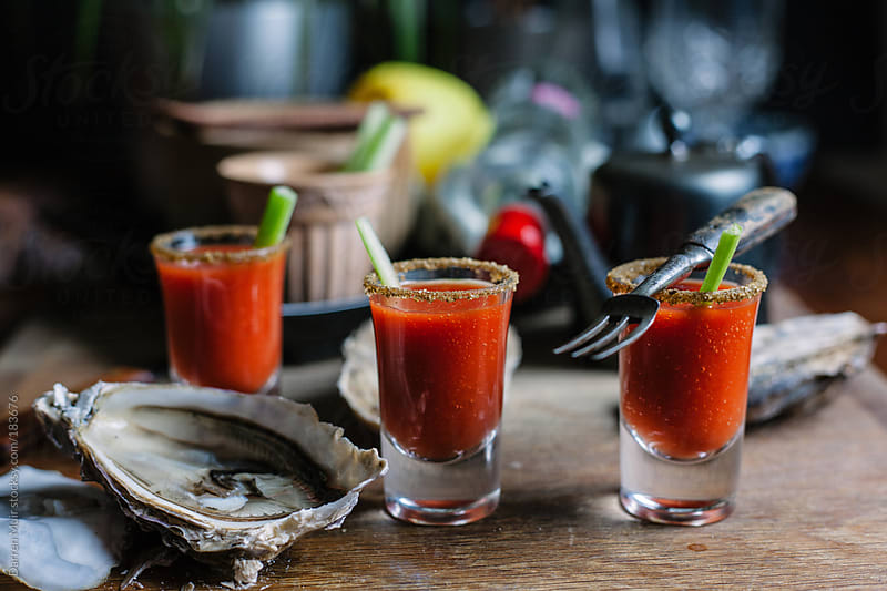Bloody Mary Shooters. by Darren Muir for Stocksy United
