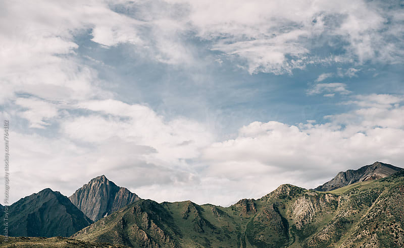 Mountain peak landscape by Isaiah & Taylor Photography for Stocksy United